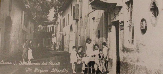 Gelateria Bandirali. La prima sede in via Stefano Allocchio