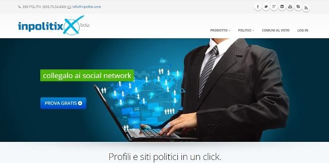 InPolitix, uno screenshot del sito internet