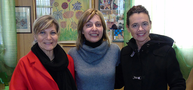 L'assessore Morena Saltini, Chiara Leoni ed il sindaco Stefania Bonaldi (foto © Cremaonline.it)