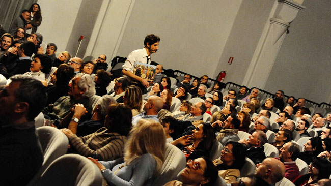 Nicola Cazzalini in platea (foto © Stefanino Benni)
