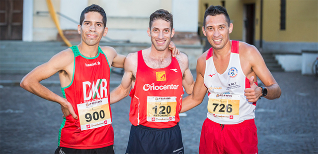 La Corsa delle Mischerpe 2017, il podio maschile