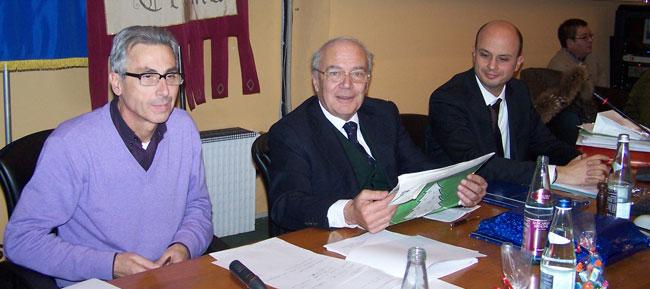 Massimo Piazzi, Bruno Bruttomesso, Antonio Agazzi (foto © Cremaonline.it)