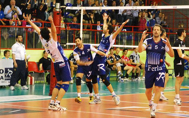 Il match point della promozione in B1 della Reima (foto © Cremaonline.it)